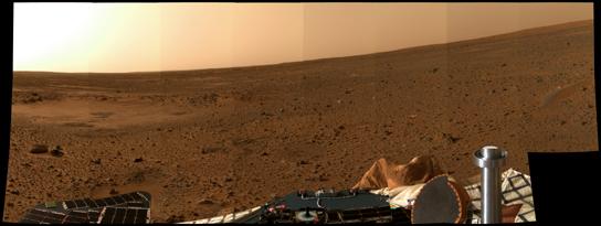 Vista di Marte, verso Nord